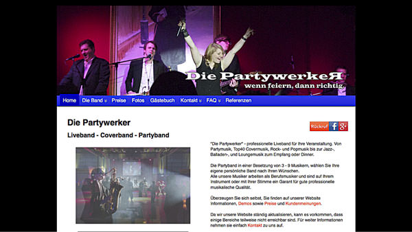 Partywerker-Screenshot